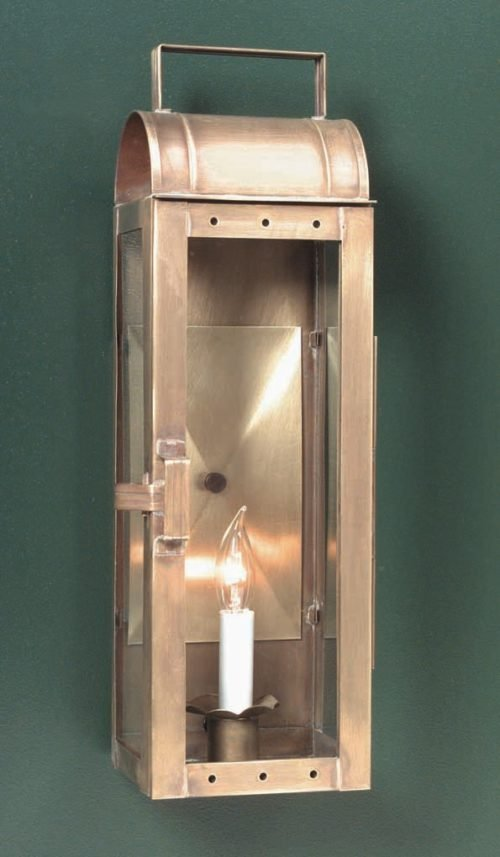 Hammerworks Colonial Wall Lantern 10101B Handmade With Solid Brass In Antique Finish