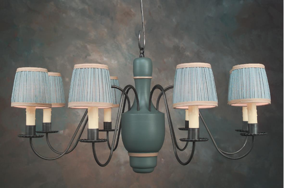 Vanity Light Wood Metal With Punched Tin Lamp Shades: Handcrafted Quality Chandeliers Post