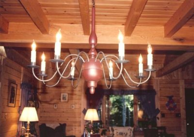 Colonial Country Wooden Chandelier: CH203