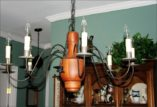 Early American Wood Chandelier - CH-109