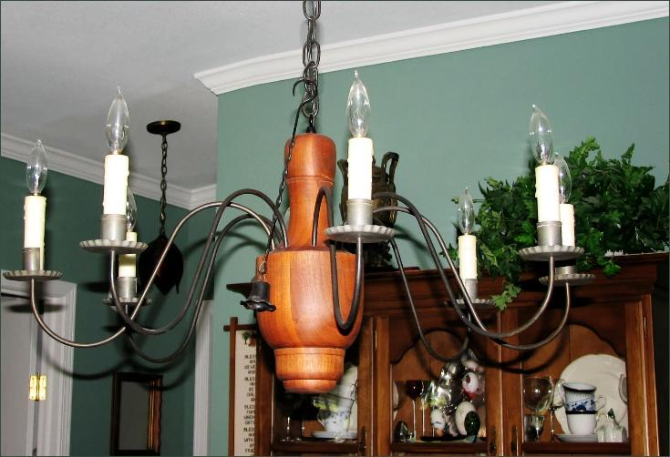 Early american reproduction wood chandelier rustic chandeliers early american wood chandelier ch 109 mozeypictures Gallery