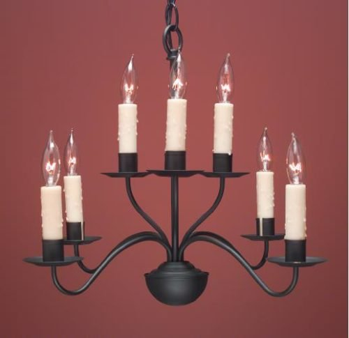 Hammerworks French Colonial Country Chandeliers FCCH503 Shown Painted Black