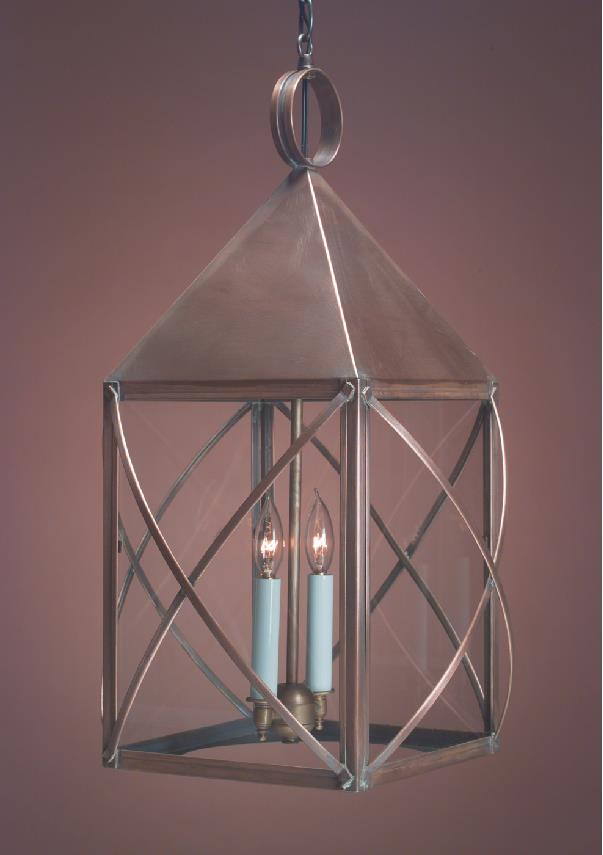 Hanging Wall Lantern Light : Hanging Copper Colonial Lantern & Lanterns Quality Handmade Lighting
