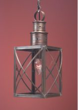 Hammerworks Colonial Hanging Lantern Handcrafted In Antique Copper HW104