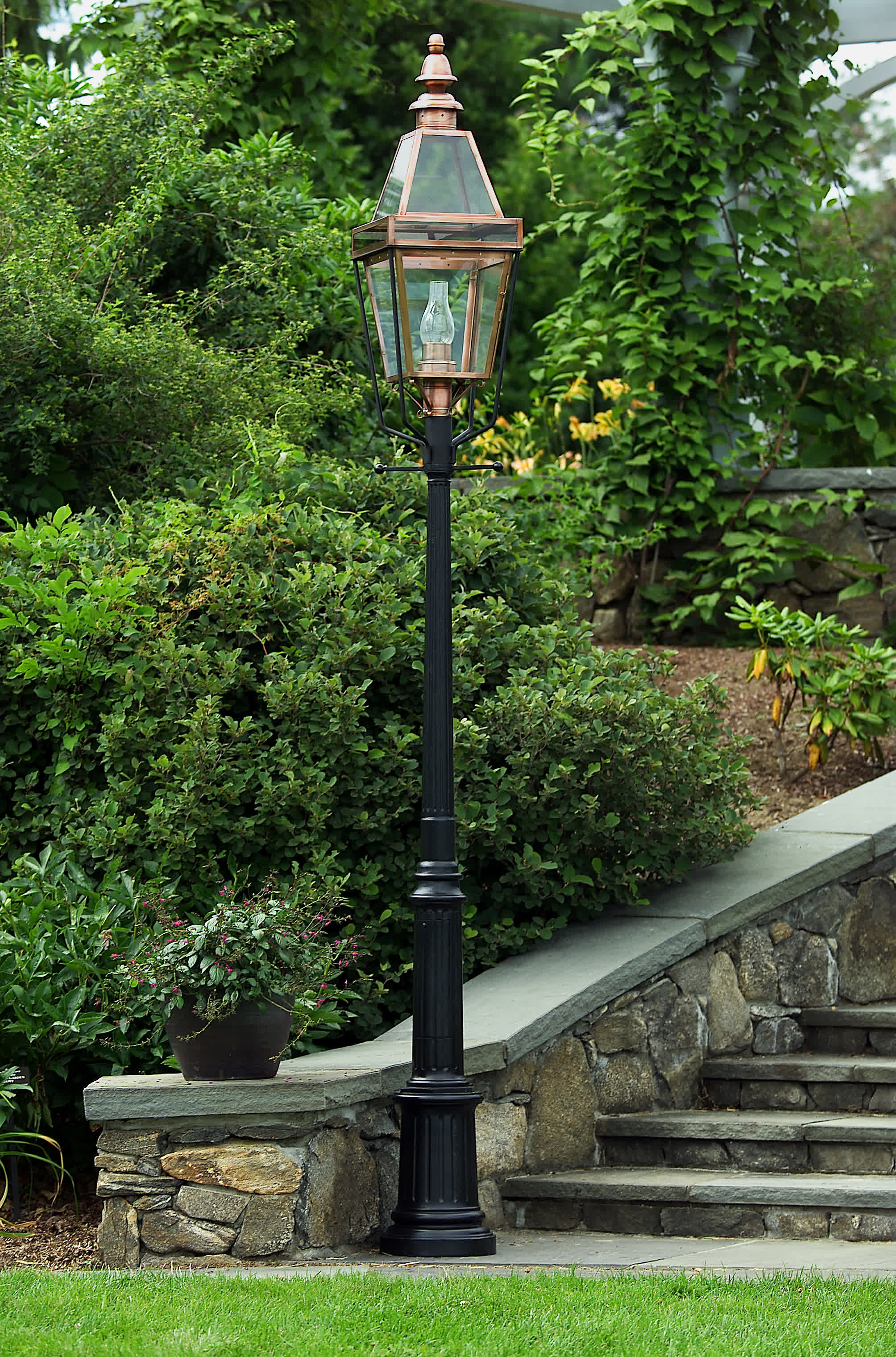 Cedar lamp post lamp design ideas lantern poles wooden cast aluminum cedar light post aloadofball Images
