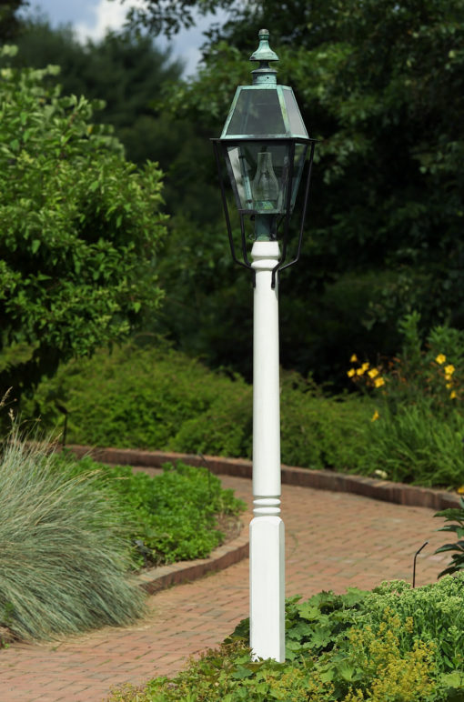 Hammerworks Wooden Light Post - Fancy Turned Pole
