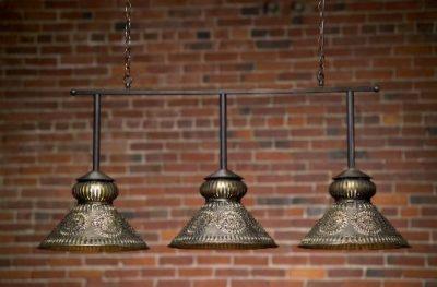 Custom Pool Table Light: Hammerworks Colonial Poll Table Light