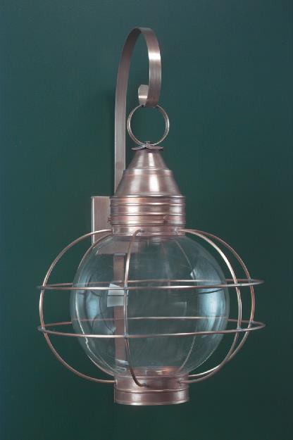 Hammerworks Onion Wall Lanterns Handmade RG12 Crafted With Solid Copper In Antique Finish
