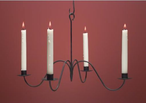 Hammerworks Wrought Iron Candle Chandelier WICH104