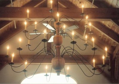 Custom Wooden Chandelier: 6' High x 6' Wide