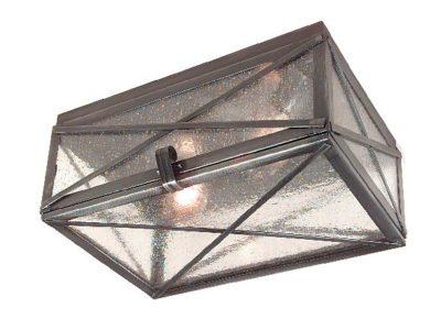 Hammerworks Tin Ceiling Light Seedy Glass CL114