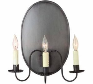 Hammerworks Early American Antique Wall Sconce 801B Shown In Antique Tin Finish