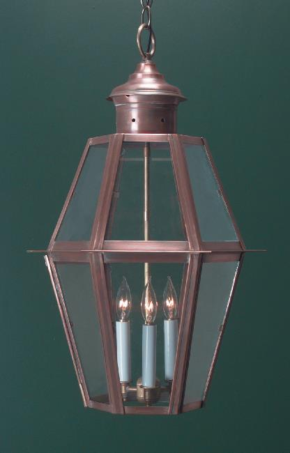 Hammerworks Colonial Style Hanging Lantern H105A Handcrafted With Solid Copper