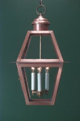Hammerworks Colonial Pendant Light Handcrafted With Solid Copper In Antique Finish H