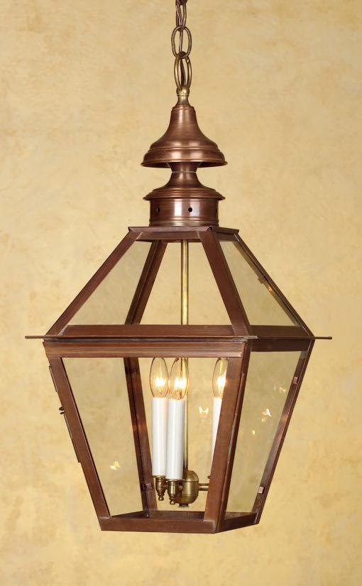 Colonial Copper Hanging Lantern: Hammerworks Hanging Light H212
