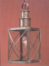 Colonial Hanging Copper Lantern: Hammerworks Hanging Light HW104: