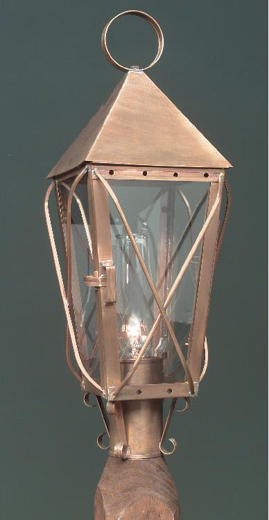 Hammerworks Colonial Handcrafted Copper Post Lantern 1009P