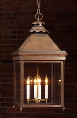 English Manor Copper Hanging Lights: Hammerworks English Style Hanging Light 922H