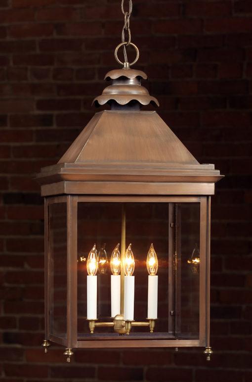 English Manor Copper Hanging Lights: Hammerworks English Style Hanging Light 922H