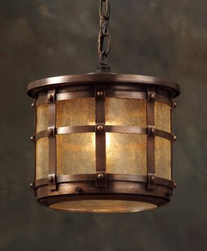 English Tudor Hanging Light Fixture: Hammerworks Hanging Tudor Light OWH1