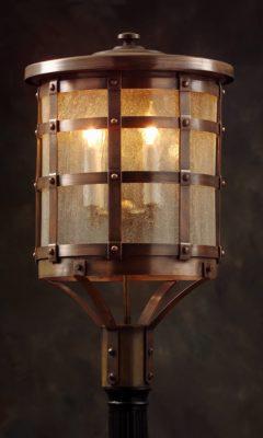 Tudor Home Style Post Lantern: Hammerworks Model OWP1
