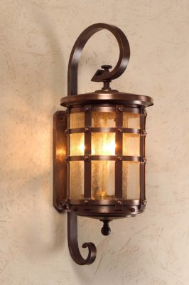 Hammerworks Handmade English Tudor Copper Wall lantern OWW1