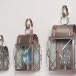 Outdoor Copper Wall Lanterns - Culvert Series Shown In 3 Sizes