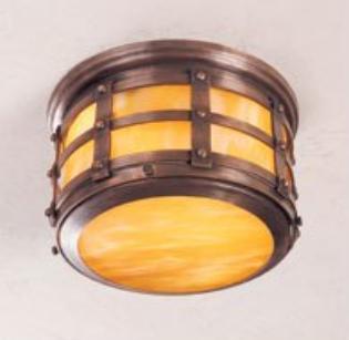 Tudor Style Ceiling Copper Light Fixture: Hammerwork Tudor Style Ceiling Light 0WC1