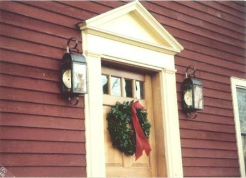 Cape Cod Style Copper Wall Lantern With Optional Brass Reflectors: Model: W106
