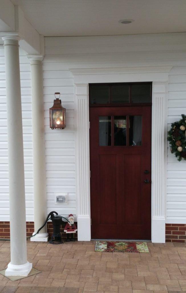 Copper Colonial Wall Light Model # W101