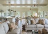 Colonial Wooden Chandeliers Shown In A Light Stain With Ten Arms: Hammerworks Ch109A