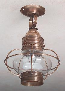 Colonial Onion Ceiling Lanterns: Hammerworks Hanging Light OCL108