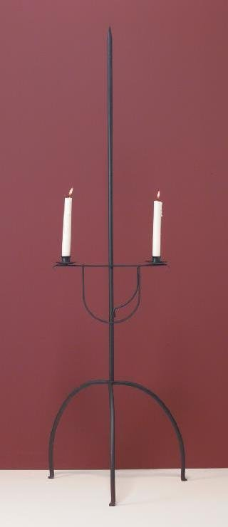 Hammerworks Hand Forged Wrought Iron Candle Stand CS101