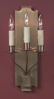 Hammerworks French Country Sconce Lighting FCS213 Handcrafted In Antique Brass