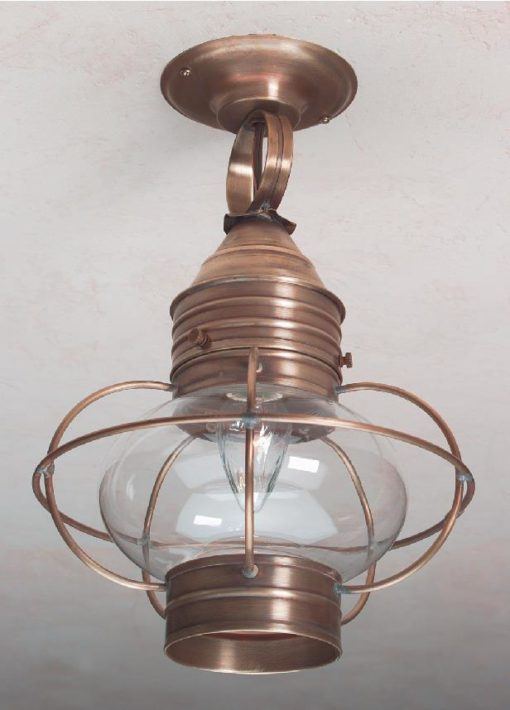 Colonial Ceiling Onion Lantern: Hammerworks Hanging Light OCL108