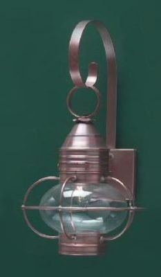 Hammerworks Cape Cod Onion Wall Lanterns OL8 Handcrafted With Solid Antique Copper