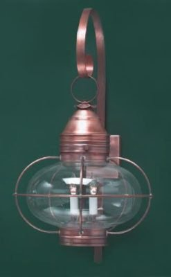 Hammerworks Copper Onion Wall Lanterns OL12 Handcrafted In Antique Copper