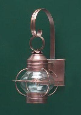 Hammerworks Copper Onion Wall Lantern OL6 Handcrafted With Solid Copper Or Brass