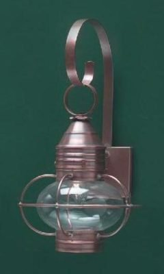 Hammerworks Cape Cod Onion Wall Lantern OL8 Handcrafted With Solid Antique Copper