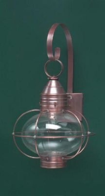Hammerworks New England Onion Wall Lights OL10 Handcrafted With Solid Copper