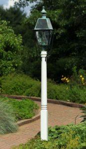 Hammerworks Wooden Cedar Light Pole | Fancy Turned Post