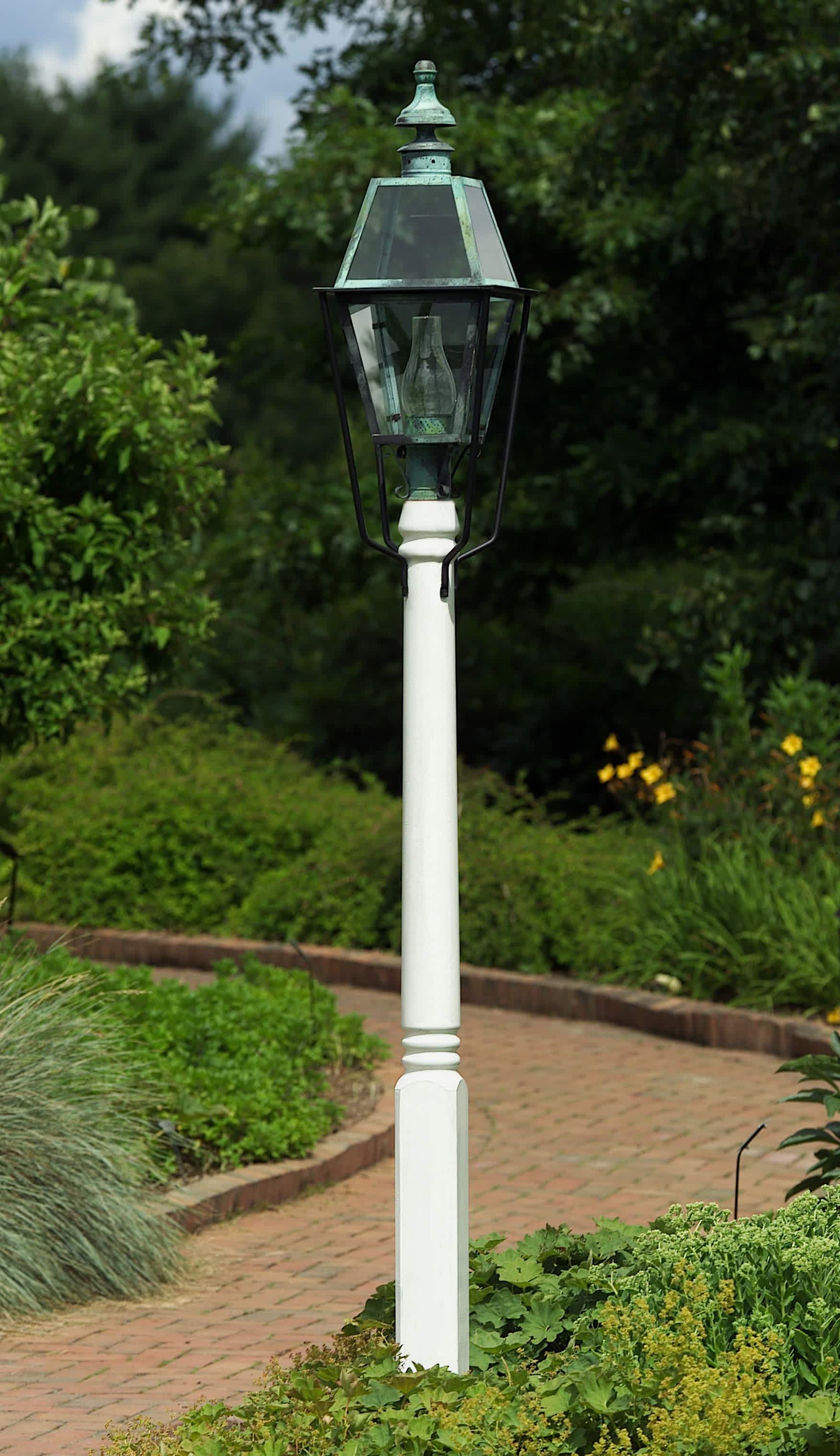 Hammerworks Wooden Cedar Light Pole | Fancy Turned Post