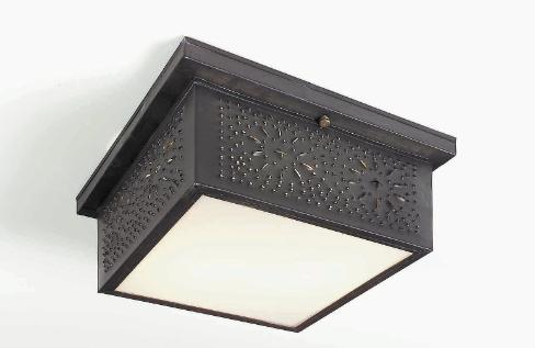 Punched Tin Ceiling Lights & Light | Handmade Colonial Lighting Fixtures