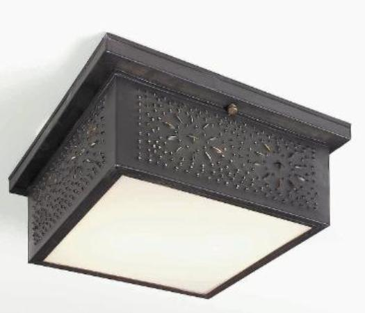 Hammerworks Punched Tin Ceiling Lights: Model # CL117 Shown