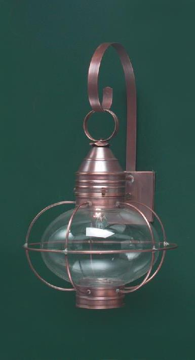 Hammerworks New England Onion Wall Light OL10 Is Handcrafted In Solid Antique Copper
