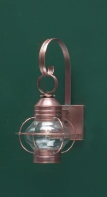 Hammerworks Copper Onion Style Wall Lanterns Are Handcrafted With Solid Antique Copper: OL6