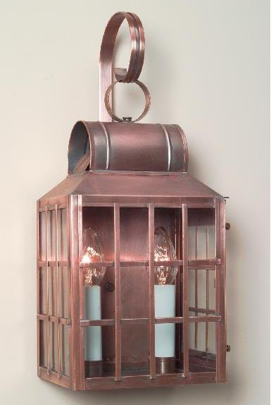 Hammerworks Early American Home Wall Light: Model W116 Shown In Solid Antique Copper