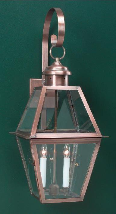 Hammerworks Traditional Home Wall Lights: WML112 Shown In Solid Antique Copper Finish
