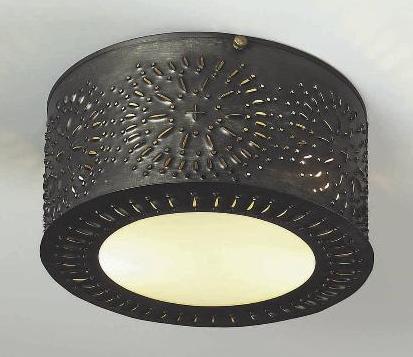 Pierced Tin Ceiling Lights & Light | Handmade Colonial Lighting Fixtures
