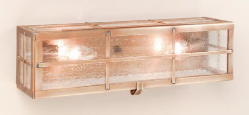 Hammerworks Early American Home Vanity Wall Light VL101 Handcrafted In Solid Antique Copper